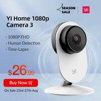 YI-Cámara de seguridad Home 3 de interiores para casa, sistema de vigilancia alimentado con inteligencia artificial y soporte magnético, con detección humana y audio de dos vías, 1080P