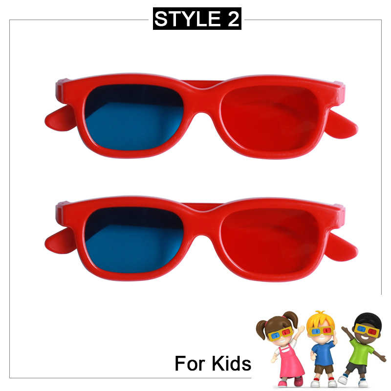 AUN Projector Red-Blue 3D Glasses for LED Projector Support Red Blue 3D Mini Projector Beamer Accessories Gift Box DL02