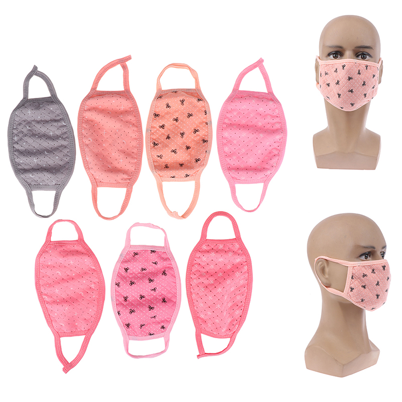 1Pcs Reusable Print Star Bow Face Mouth Mask Anti Dust Mask Filter Windproof Mouth-muffle Face Masks Care 3Styles