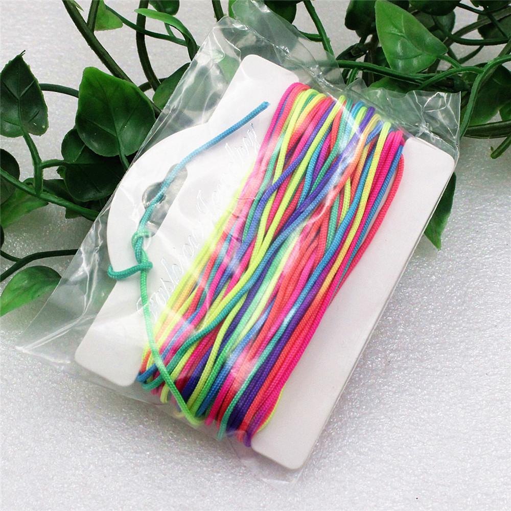 2 Rolls/lot Fashion Rainbow Beading Cord/String/Thread For Bracelet Necklace Thickness: Approx1.8mm Length: 16M/Roll K02052