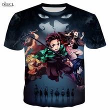 패션 T 셔츠 남성/여성 Anime Demon Slayer: Kimetsu No Yaiba 3D 프린트 T 셔츠 하라주쿠 스타일 T 셔츠 Streetwear Tops T234