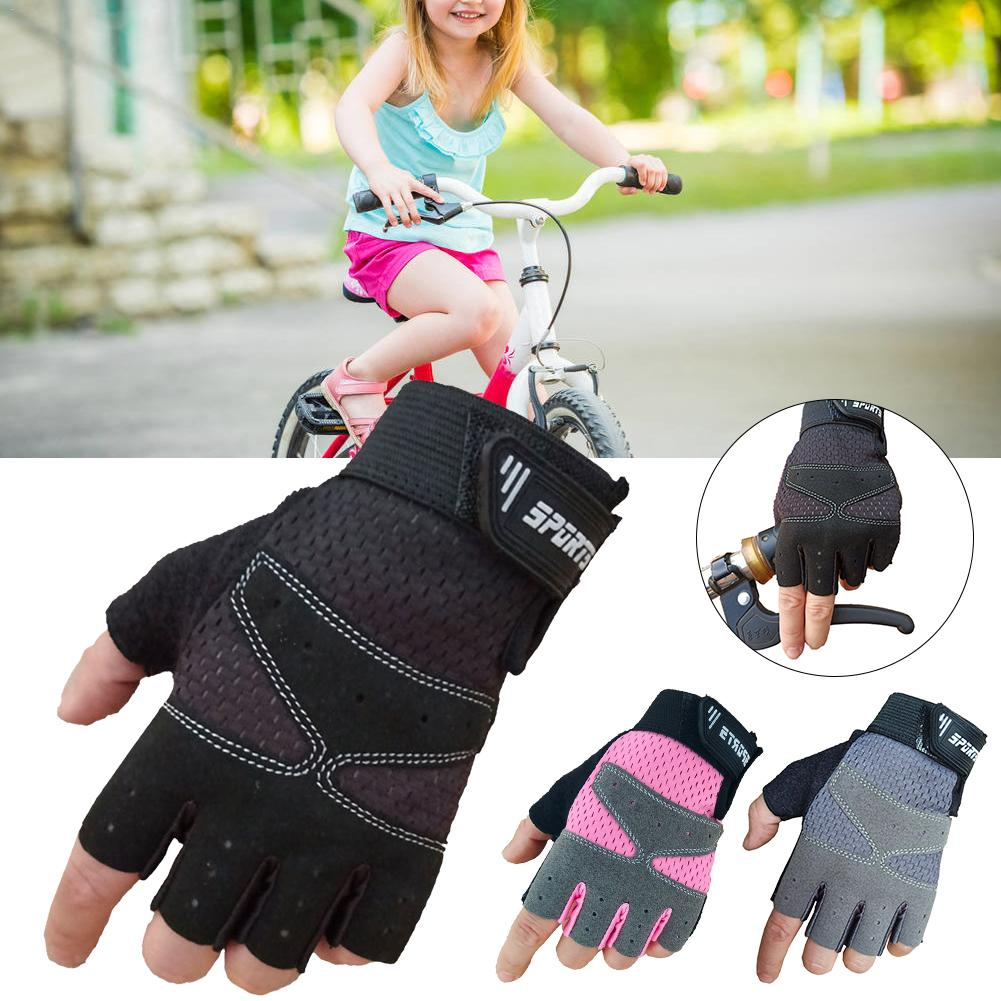 Cycling Gloves Road Bike Gloves Sports Half Finger Anti Slip Bicycle MTB Road Bike Gloves For Teenagers Kid And Small Women