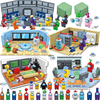 Лидер продаж 2021, набор строительных блоков модели США среди фигурок, миниатюрные игрушки инопланетянина, кирпичи, игрушки «сделай сам» для ...