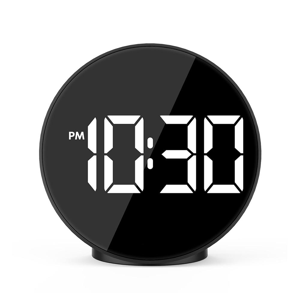 Fanju Голосовое управление, цифровой будильник, светодиодный, ночной режим, часы, электронное время, температурный дисплей, настольные часы