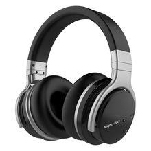 Poderoso rock e7c active noise cancelling fone de ouvido bluetooth fones de ouvido sem fio 30 horas sobre a orelha com microfone