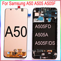 for Samsung A50 LCD screen display A505 with touch with frame assembly Replacement repair parts|Mobile Phone LCD Screens| |  -