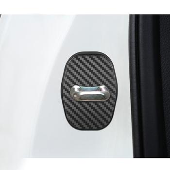 Samochodu z włókna węglowego pokrywa ochronna na zamek do drzwi dla Peugeot 206 207 208 306 307 308 407 408 508 2008 3008 akcesoria tanie i dobre opinie Z tworzywa sztucznego