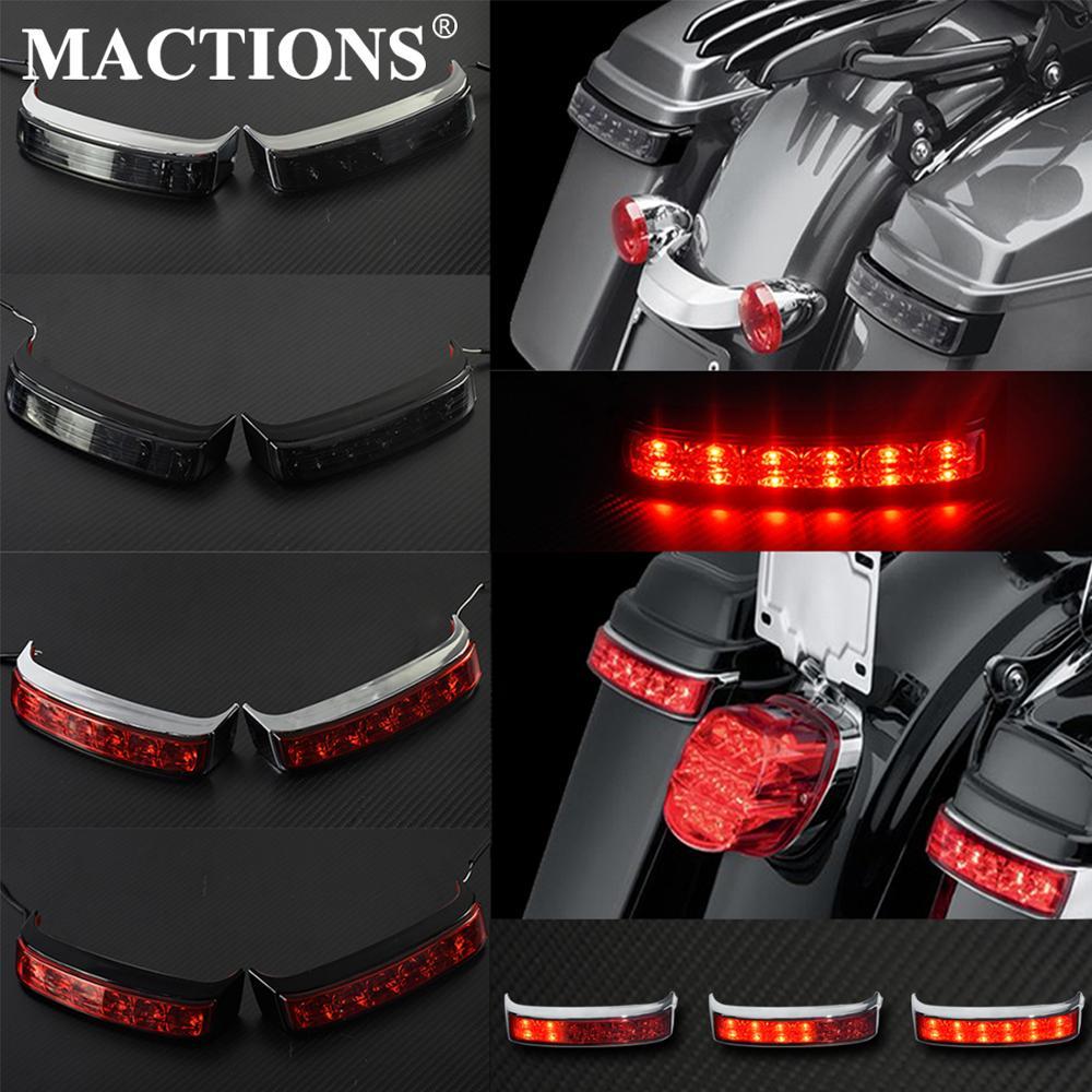 Saddlebag Luggage Housing Turn Signal Flowing Flashing Light Tail Brake Running Hazard Indivator Blinker Lamp For Harley Touring
