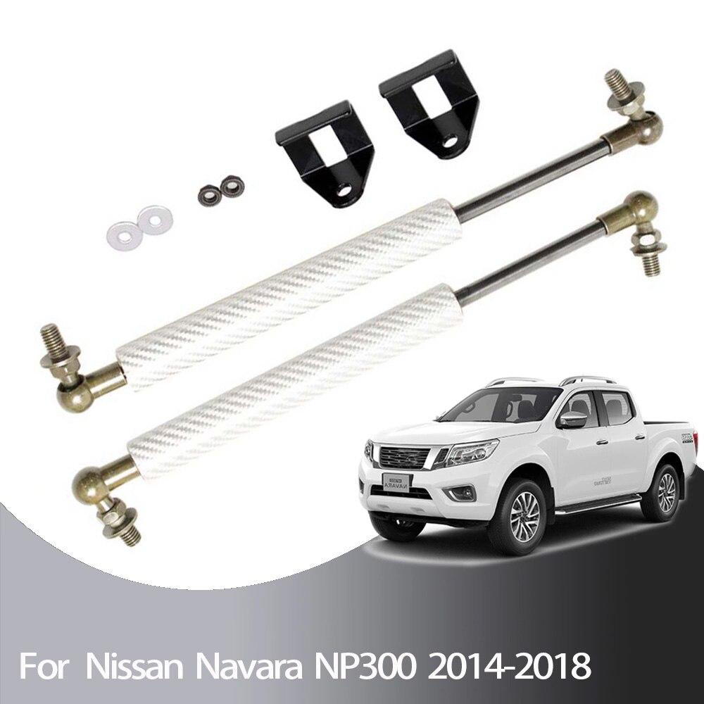 Capó delantero para coche, para Nissan NP300, Navara D23, Renault Alaskan, mercedes-benz Clase X, 2003-2012, resortes de elevación de Gas