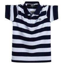 Männer Polo Shirt Sommer männer Casual Atmungs Plus Größe 5XL 6XL Gestreiften Kurzarm Polo Shirt Reine Baumwolle Mode männer Kleidung
