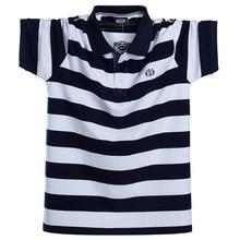 Męska koszulka Polo letnia męska Casual oddychająca Plus rozmiar 5XL 6XL pasiasta koszulka Polo z krótkim rękawem koszula w całości z bawełny moda męska odzież