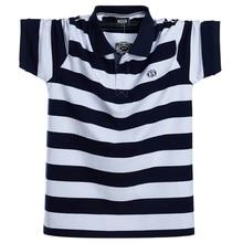 Polo informal transpirable para hombre, camisa de manga corta a rayas de talla grande 5XL y 6XL, ropa de moda de algodón puro para verano