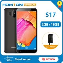 Homtom S17 5.5 인치 18:9 디스플레이 3000mAh 얼굴 ID 지문 휴대 전화 안드로이드 8.1 2GB 16GB ROM 13MP + 2MP 듀얼 캠 스마트 폰