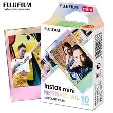 Véritable Fujifilm Instax Mini 8 Film confettis Fuji papier Photo instantané 10 à 50 feuilles For70 7s 50 s 90 25 partager SP 1 appareil Photo LOMO