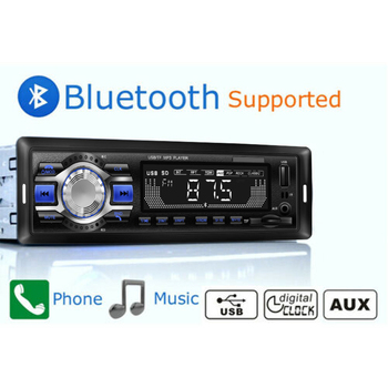Car Radio FM AUX MP3 Players Bluetooth Car Audio Stereo 1 Din with Remote Control image