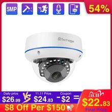 Techage 4mp 5mp câmera de segurança poe 48v dome ao ar livre indoor ip câmera de vigilância de rede de vídeo câmera onvif para poe nvr sistema