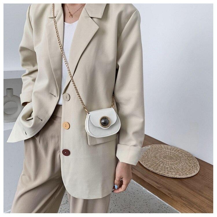 Mini Fashion Pu Soild Color Saddle Bags For Women Small Bag Leather Handbags And Lady Shoulder Bags Cross Body Bag (8)