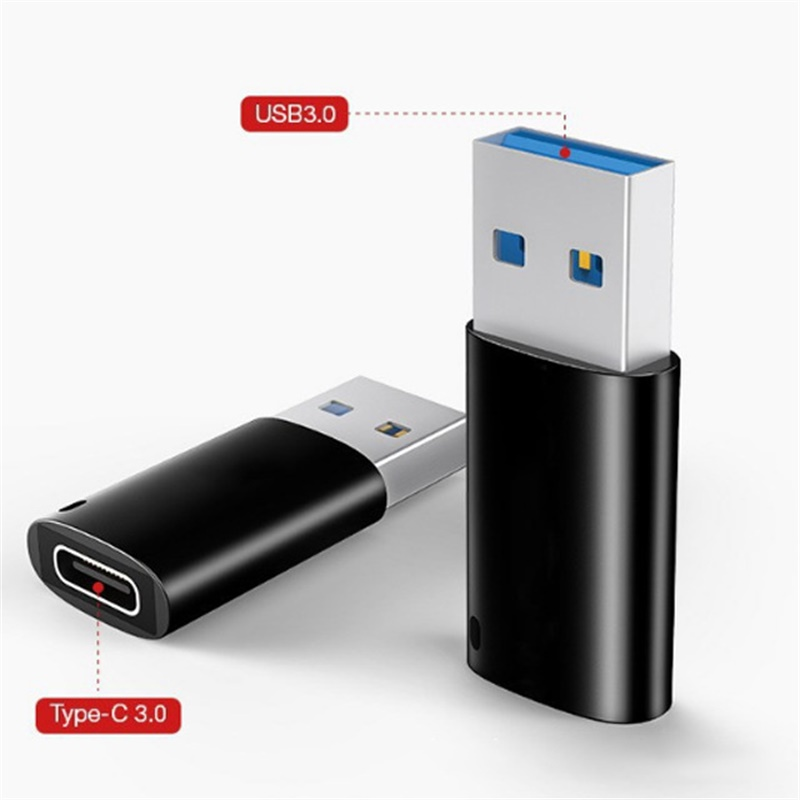 Type-C Female to USB3.0 Male Aluminum Adapter 5V//2.4A Converter 5Gbps Speed