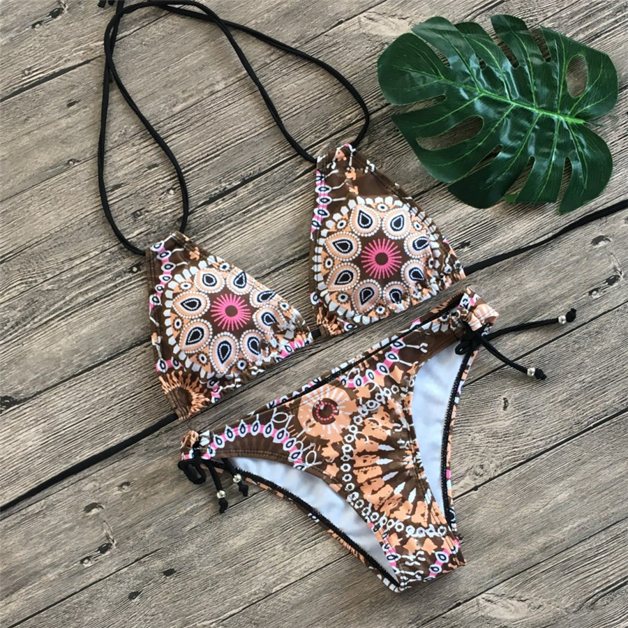 Floral print bikinis 2019 new swimwear women swimsuit beach bathing suit maillot de bain femme biquini sexy brazilian bikini set