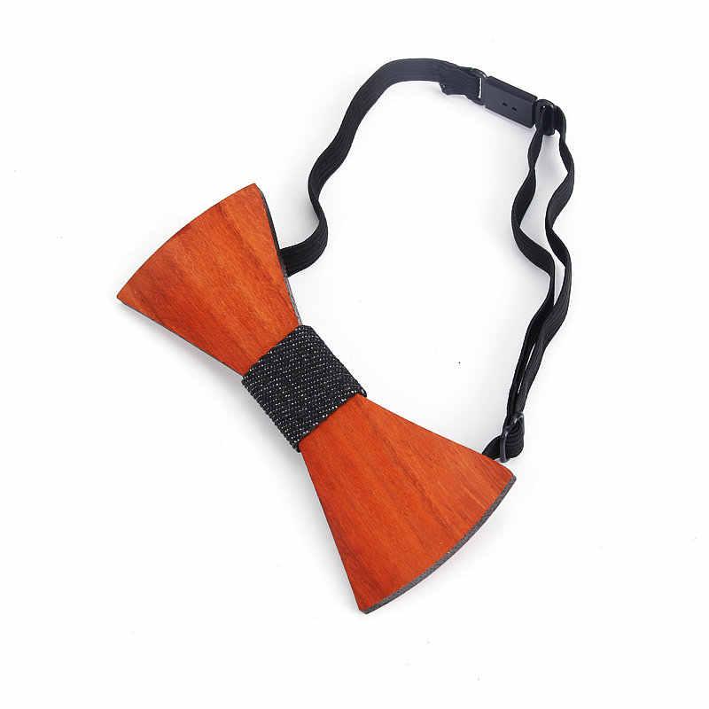 العلامة التجارية جديد بيزلي خشبية الأحمر ربطة القوس فيونكة الرجال منقوشة بووتي الخشب الجوف منحوتة قطع الزهور تصميم الأزياء الجدة الشارب العلاقات