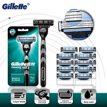 Straight Safety Razor Gillette Mach 3 Shaving Machine Cassettes Face Shaver Case  For Men Shave Kit For Beard Shavette Tools