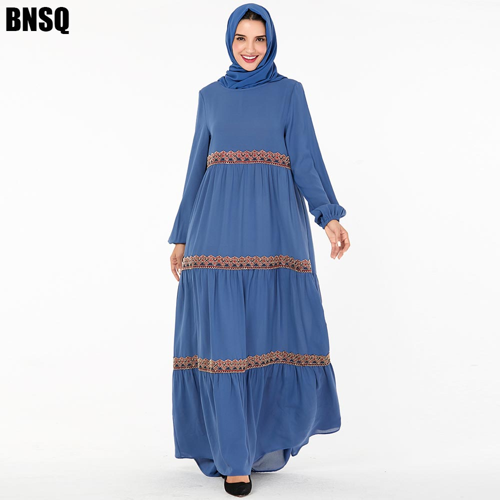 BNSQ Muslim Dress Abaya Caftan Clothing Jilbab Maxi Turkey Kaftan moroccan Dubai Arabic Oma Indian Robe Dress Caftan Lehenga image