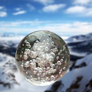 Transparent Glas Kristall Ball 30/40/80/ 100mm Kugel Fotografie Foto Schießen Requisiten Objektiv Klar Runde Künstliche Ball Decor