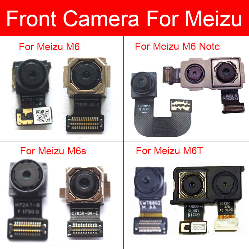 Rear & Front Camera For Meizu M6 M6s M6T Note M6Note Facing Camera Module Big Back Main Camera Flex Ribbon Cable Replacement