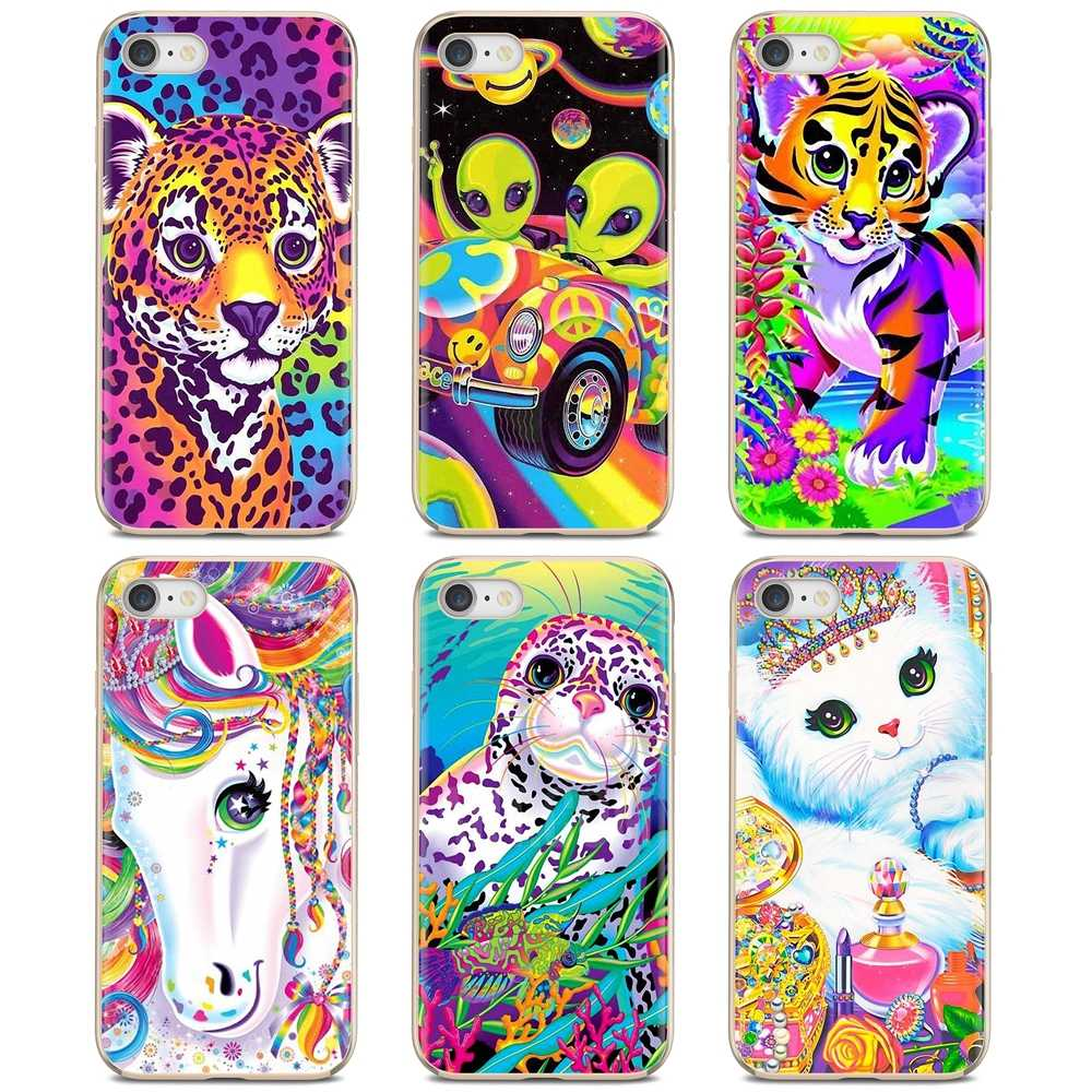 Voor Samsung Galaxy A10 A30 A40 A50 A60 A70 S6 Actieve Note 10 Plus Rand M30 Zachte Siliconen Tpu Case lisa Frank Tijger Paard Hond Kat