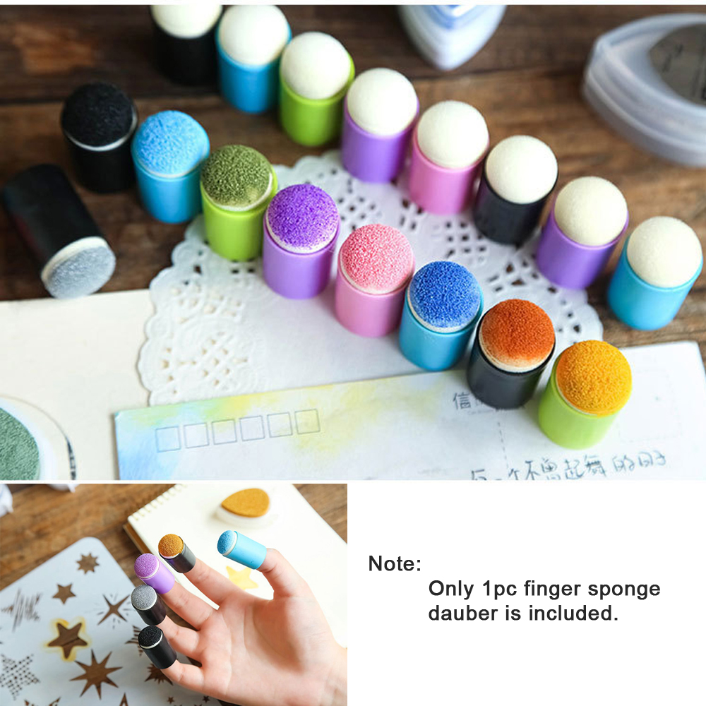 arriettycraft Finger Sponge Daubers for Stenciling Paper Craft Project Painting Inking Tools daubers for Scrapbooking 10pcs//Pack