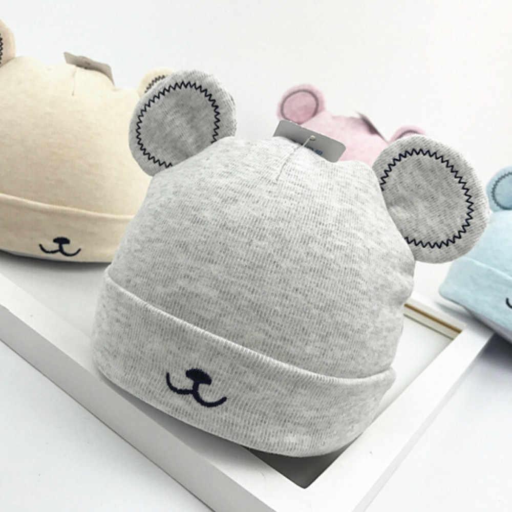 פעוט ילדים כובעי תינוק בנות בני ילד להתחמם חורף חמוד אוזני קטיפה בימס כובע צמר כדור פרווה סקי מוצק צבע ילדי כובע