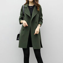 2021newCasual mi-longue Double boutonnage En Laine Manteau Vestes Manteaux Femmes Eam Boutique Officielle Vêtements Femmes Manteaux