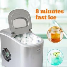 Ice-Maker Tea-Shop Electric Ice-Machine12kg/24h Automatic Household Bullet XEOLEO