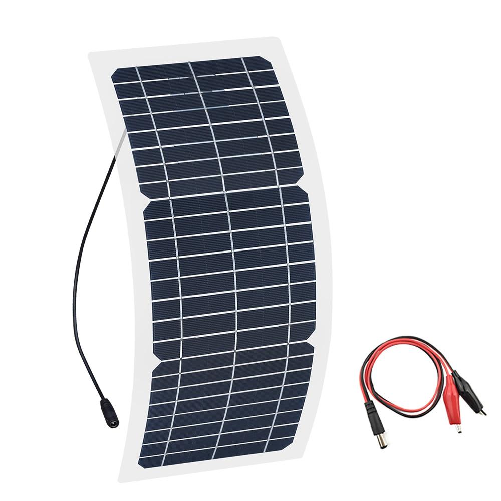 Прозрачная полугибкая Кремниевая монокристаллическая солнечная панель Xinpuguang, 12 В, 10 Вт, модуль постоянного тока, 12 Вольт, адаптер для аккуму...