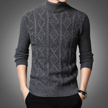 Turtleneck Sweater Jersey Pullover Men Male Thick Men's Brand Warm Youth Straight 3d-Print