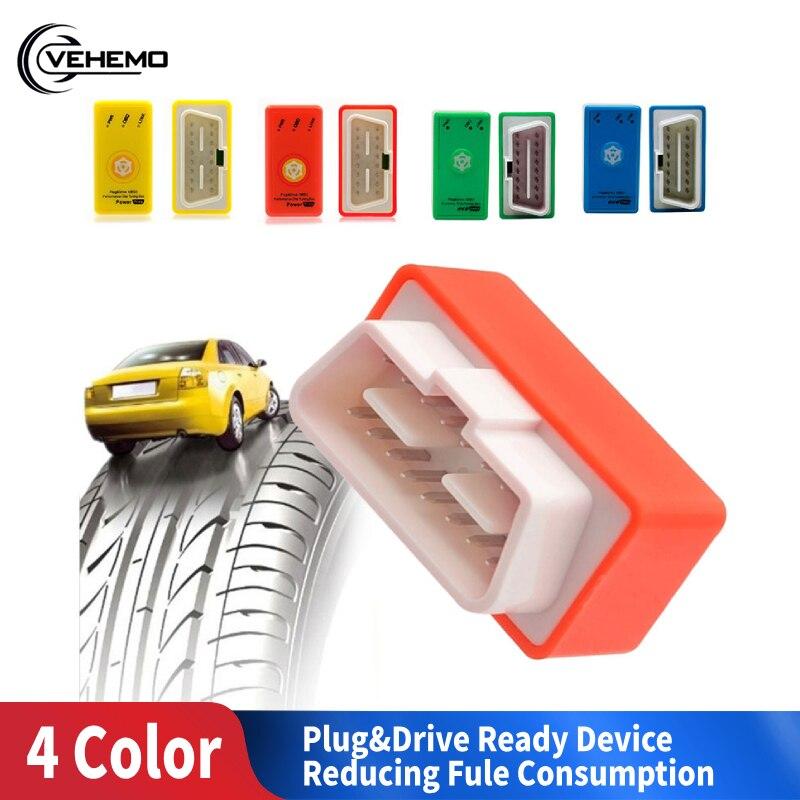 Durable Car Eco OBD2 Tuning Box Chip 4 Colors Professional Fuel Saver Auto Eco OBD2 Economy Benzine Eco OBD2