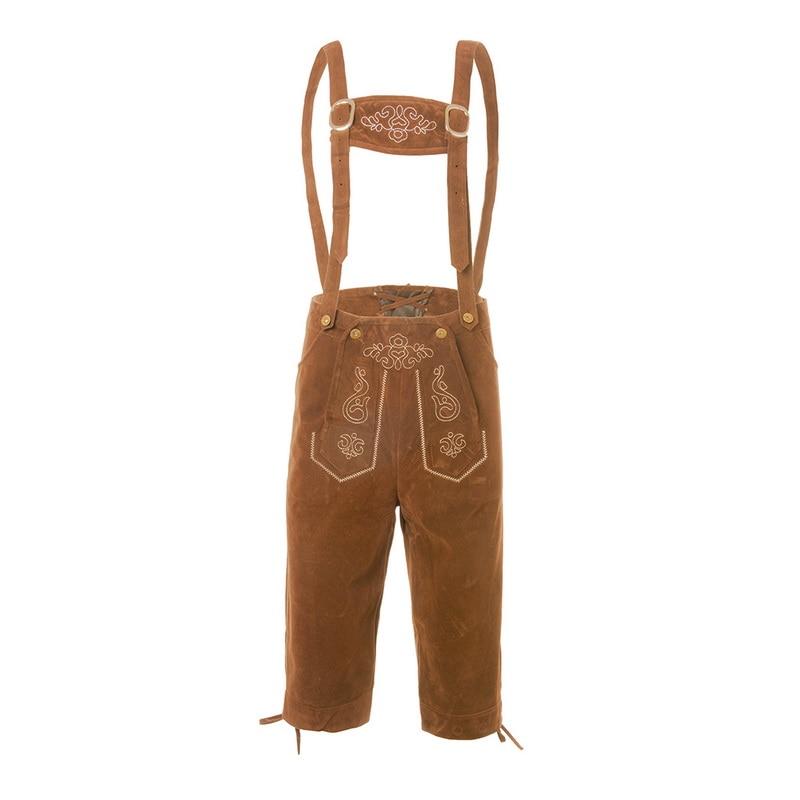Men's Casual Overalls Pants Fashion Print Multi-pocket Pantalones Hombre Calf Length Pants Streetwear Oktoberfest Trousers Men