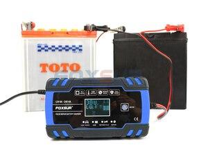 Image 4 - Foxsur 12V 24V Lood zuur Agm Gel Nat Efb Auto Motorfiets Acculader, Smart Battery Charger, puls Reparatie Batterij Oplader