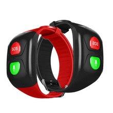 Ip67 relógio inteligente rastreador gps sos pulseira à prova dold água velhos crianças pulseira grande botão sos sem monitor de exibição para android
