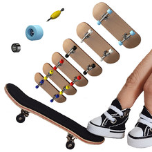 1 conjunto fingerboard sapatos tecnologia mini skate de madeira básica placas dedo skate scooter deck profissional novidade crianças presente