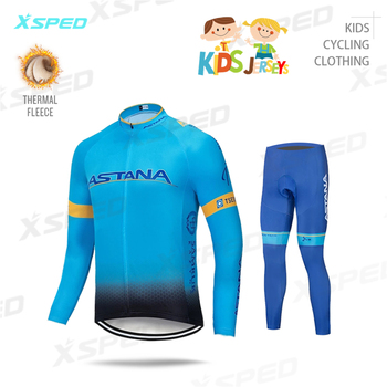 Astana, Kit de Ciclismo para niños, Ropa de manga larga 2020, Ropa...