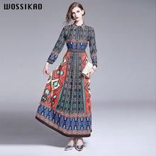 Платье макси с длинным рукавом вечернее платье в стиле бохо