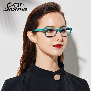 Image 2 - Glasses Frame Women Eyewear Frames Women Teal Retro Clear Glasses Myopia Spectacle Frame Optical Cat Eye Glasses Female Eyeglass