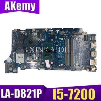 Akemy for Dell Inspiron 7460 7560 Laptop Motherboard i5-7200U CPU BKD40 LA-D821P 100% Tested Mianboard