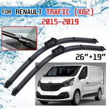 For Renault Trafic X82 2015 2016 2017 2018 2019 Accessories Car Front Windscreen Wiper Blades Brushes for Opel Vauxhall Vivaro