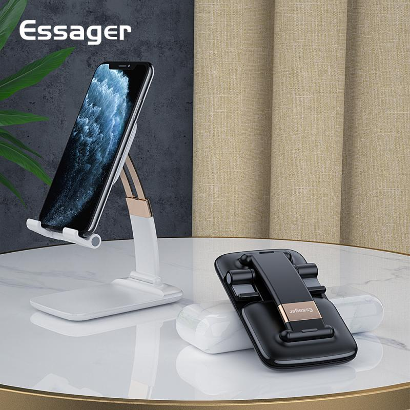 Essager Mobile Phone Holder Stand For iPhone Adjustable Metal Desktop Desk Tablet Holder Universal Table Cell Phone Stand TSLM1|Phone Holders & Stands|   - AliExpress