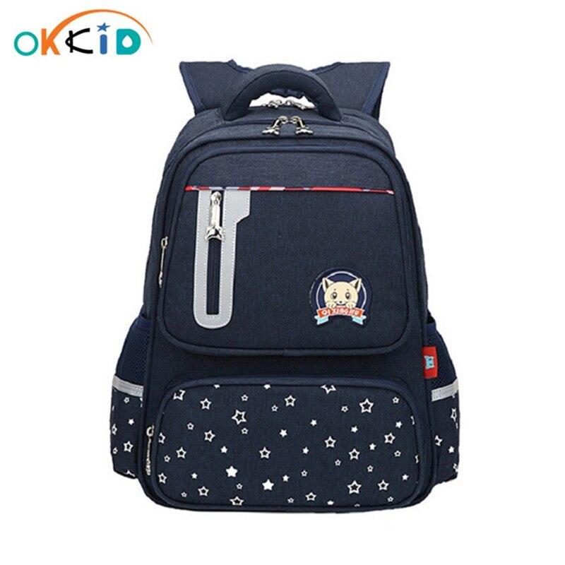 OKKID Children School Bags For Boys Waterproof Nylon Backpack Kids Elementary School Backpack For Boy Gift Bookbag Dropshipping
