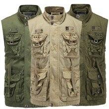 European outdoor mens mountaineering vest frock collar coat fitness  tank top men clothing