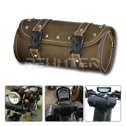 bolsa de ferramenta motocicleta garfo redondo