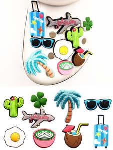 Shoe-Accessories Croc Jibz Sunglasses/jet-Plane Party Cactus/lucky High-Imitation Charm